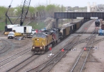 07042630 Southbound UP coal empties from Superior roll through BNSF Northtown Yard at CTC 35th